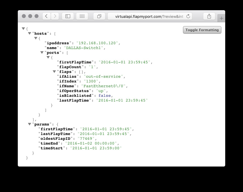 JSON Screen